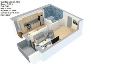 Vanzare Apartament 1 camera 37 mp Parcare Balcon 6 mp zona Eroilor !