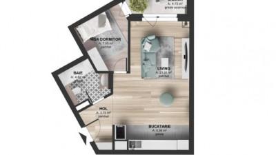 Vanzare Apartament 1 camera, Decomandat, Etaj Intermediar, zona Kaufland Marasti