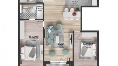 Vanzare Apartament 3 camere, 74.5 mp, Etaj Intermediar, zona Kaufland Marasti