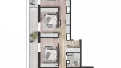Vanzare Apartament 4 camere, 98.5 mp, Terasa 36.5 mp, zona Kaufland Marasti