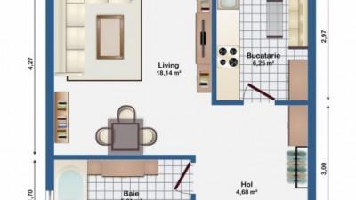 Vanzare Apartament 1 camera, 34 mp, Decomandat, Parcare, zona Str. Eugen Ionesco
