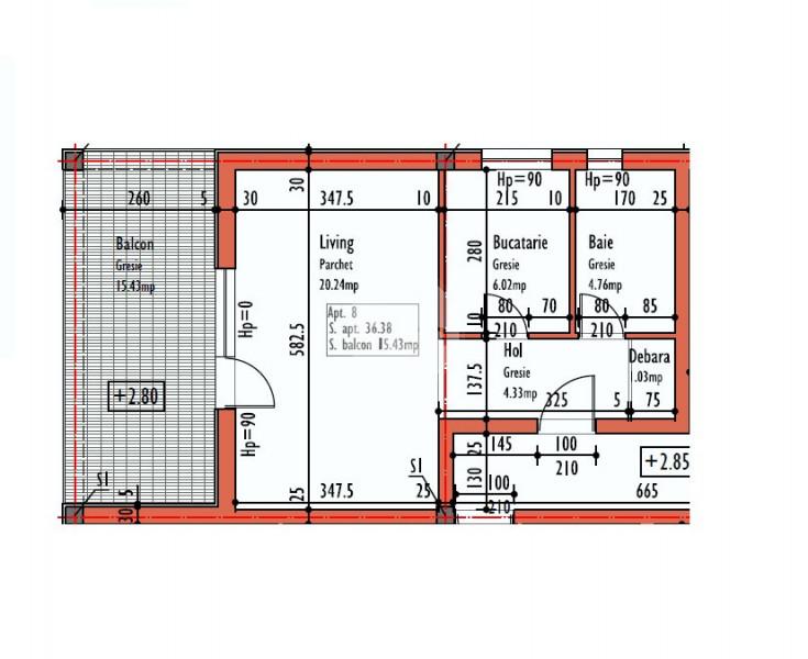Vanzare Apartament 1 camera, 36 mp, Decomandat, Parcare, zona Str. Eugen Ionesco