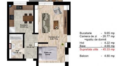 Vanzare Apartament 3 camere, 75 mp, Etaj Intermediar, zona Piata Cipariu