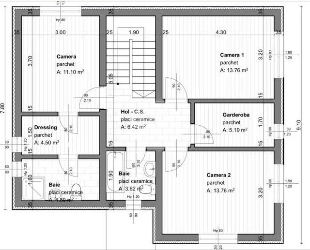 Casă individuală | 5 camere | 132 mp mp utili | 685 mp mp teren | zona Baciu !