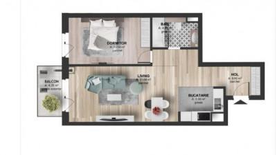 Vanzare Apartament 2 camere, 55 mp, Etaj Intermediar, zona Kaufland Marasti