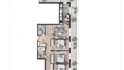 Vanzare Apartament 4 camere, 95 mp, Terasa 40 mp, zona Kaufland Marasti