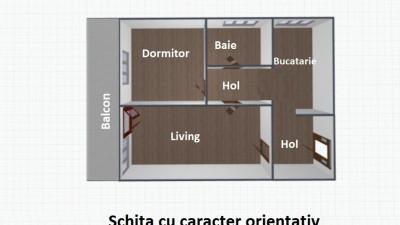 Vanzare Apartament 2 camere, Decomandat, 51 mp, Zona Iulius Mall