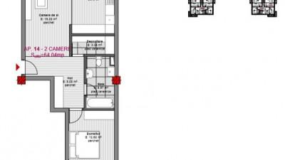Vanzare Apartament 2 Camere, 64 mp, Zona Str. Eroilor!