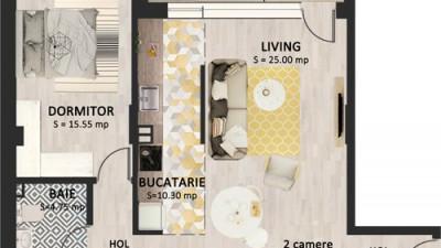Vanzare Apartament 2 Camere, 62 mp, Zona Str. Bucuresti!