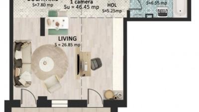Vanzare Apartament 1 Camera, Decomandat, 45 mp, Zona Str. Bucuresti!