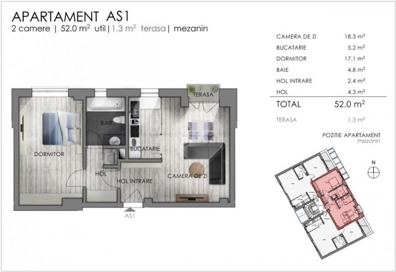 Vanzare Apartament 2 Camere, 52 mp, Zona The Office!