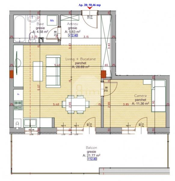 Vanzare Apartament 2 Camere, 50,5 mp, Zona Pod Ira!