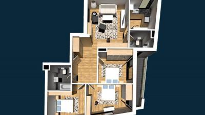 Vanzare Apartament 4 Camere, Decomandat, 89,5 mp, Zona Calea Motilor!