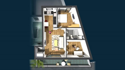 Vanzare Apartament 3 Camere, Decomandat, 55,3 mp, Zona The Office!