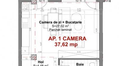 Vanzare Apartament 1 Camera, 37,6 mp, Zona Sigma!