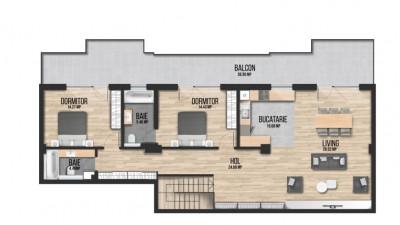 Apartament Decomandat, 3 Camere, 104 mp, Zona The Office !