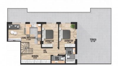 Apartament tip penthouse, Decomandat, 3 Camere, 71mp, Zona The Office !