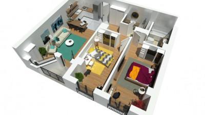 Vanzare Apartament, Semidecomandat, 3 Camere, 73 mp, Zona Calea Turzii !!