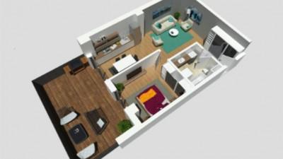 Vanzare Apartament, 2 Camere, 55.5 mp, terasa 26.6 mp, Zona Calea Turzii !