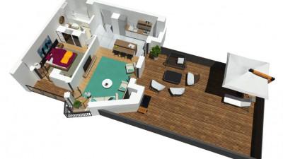 Apartament , 2 Camere, 54 mp utili, 59 mp terasa, Zona Calea Turzii !!