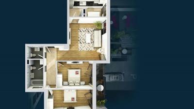 Vanzare Apartament, Semidecomandat, 3 Camere, 73 mp, Zona P-ta Mihai Viteazul !
