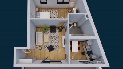 Vanzare Apartament, Semidecomandat, 2 Camere, Zona Liceul Avram Iancu !