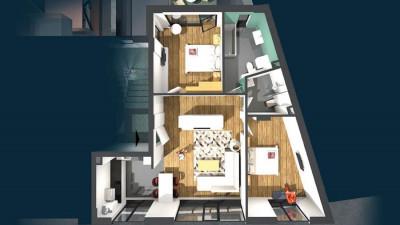 Vanzare Apartament, Semidecomandat, 3 Camere, 73.5 mp, Zona Liceul Avram Iancu !