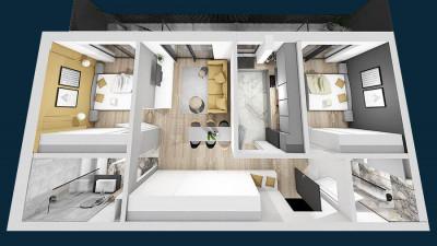 Vanzare Apartament, Decomandat, 3 Camere, 70 mp, Zona Platinia !
