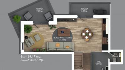 Vanzare Apartament, Decomandat, 3 Camere, 84 mp, Zona Calea Turzii !
