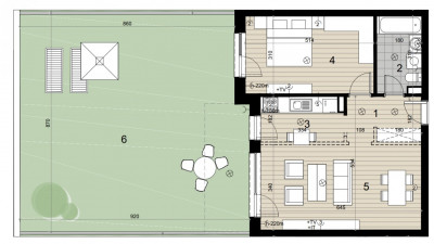Vanzare Apartament Semidecomandat, 2 Camere, 57 mp, Zona THE OFFICE !