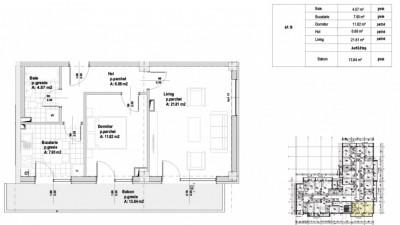 Apartament 2 Camere | 54 mp | Incalzire pardoseala | Terasa | Zona Sigma!