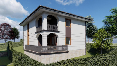 Casa cu Arhitectura Mediteraneana | 156 mp utili | 360 mp teren | zona Voronet !