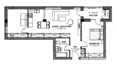 Vanzare Apartament Semidecomandat, 3 Camere, 68,9 mp, Zona Oasului!