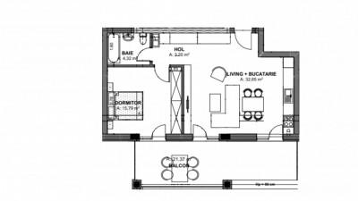 Vanzare Apartament Semidecomandat, 2 Camere, 55,96 mp, Zona Oasului!
