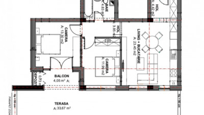 Vanzare Apartament Semidecomandat, 3 Camere, 69 mp + 34 mp terasa, Zona Oasului!