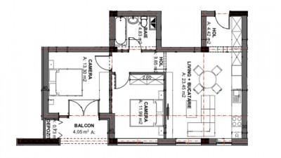 Vanzare Apartament Semidecomandat, 3 Camere, 62 mp, Zona Oasului!