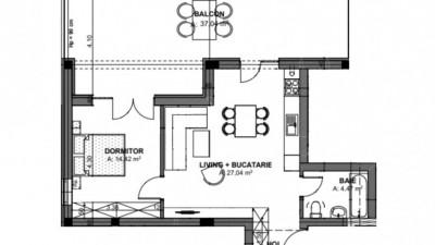 Vanzare Apartament Semidecomandat, 2 Camere, 51 mp + 37 mp terasa, Zona Oasului!