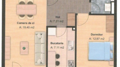 Vanzare Apartament Decomandat, 2 Camere, 53 mp, Zona Grand Hotel Italia !