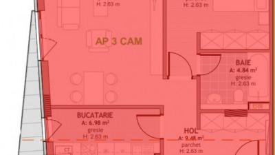 Vanzare Apartament Decomandat 3 Camere, 75 mp, Zona Mega Image !