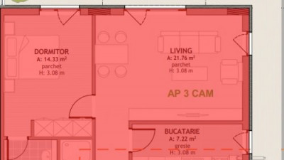 0% COMISION ! Apartament, 3 Camere, 75.6 mp, terasa 83 mp, Zona Borhanci