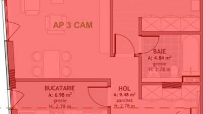 Vanzare Apartament, Decomandat, 3 Camere, 75 mp, Zona Mega Image !