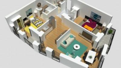 Vanzare Apartament, Semidecomandat, 3 Camere, 76 mp, Zona AUDI !
