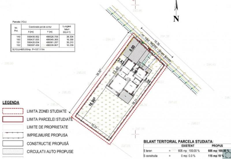 Teren cu Autorizatie de Casa | 500 mp | usor Accesibil | zona Apahida - Jucu !