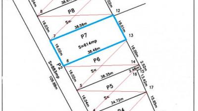 Parcela 615 mp | Certificat de urbanism | Front stradal 16 ml | POPESTI !